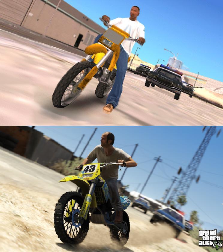 Porovnání GTA: San Andreas s GTA V 85588