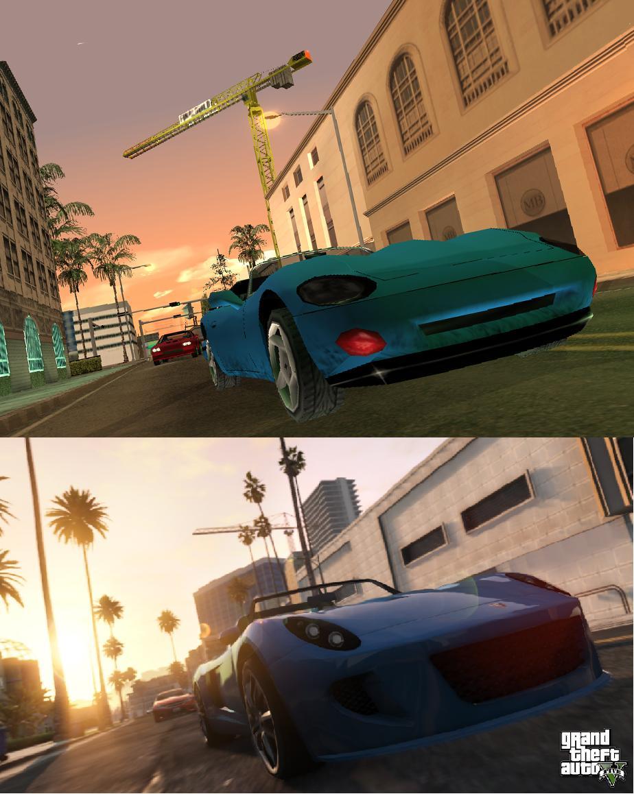 Porovnání GTA: San Andreas s GTA V 85589