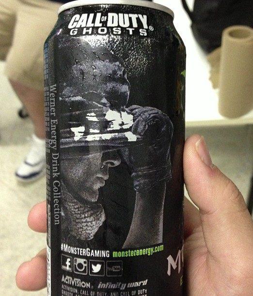 Call of Duty: Ghosts na obalu energeťáku Monster 85735
