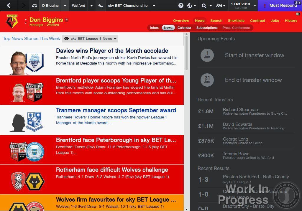 Přes 1000 vylepšení nabídne Football Manager 2014 85877