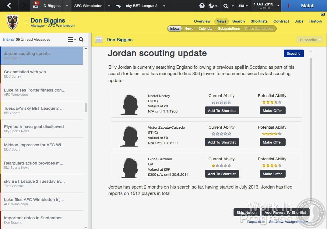 Přes 1000 vylepšení nabídne Football Manager 2014 85882