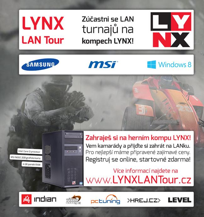 První turnaje LYNX LAN Tour brzy startují. Registruj se s kámoši 85908
