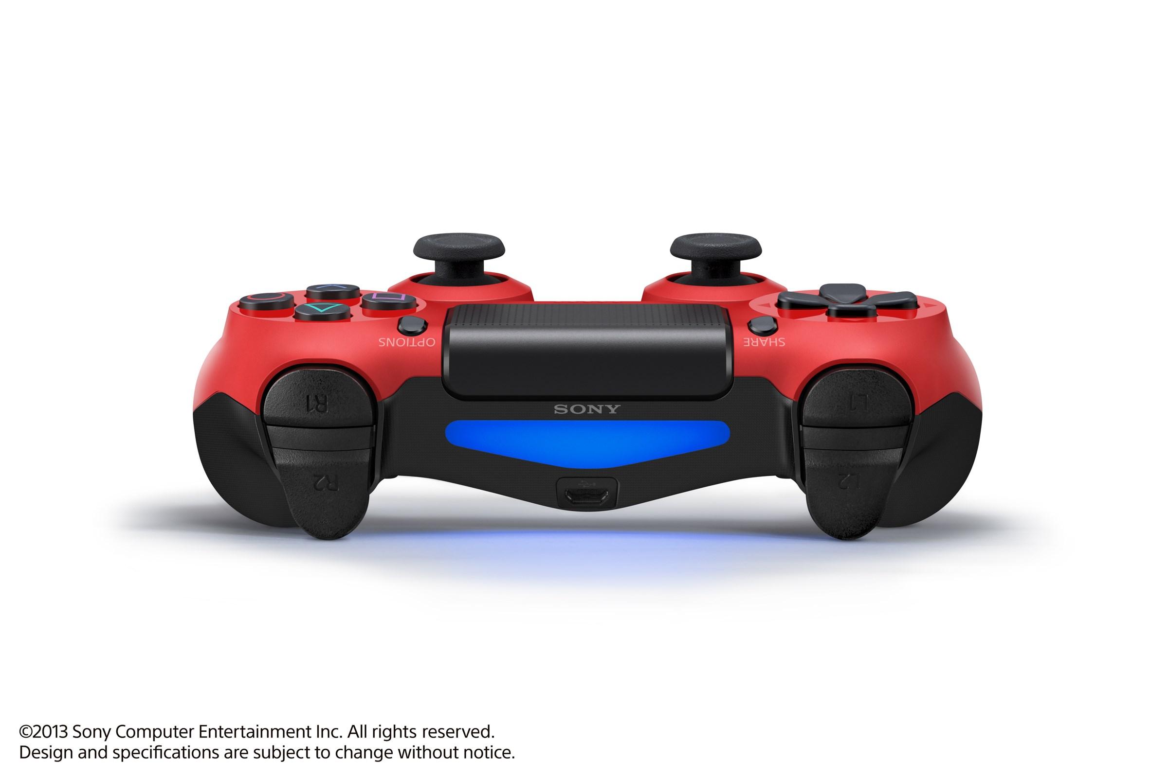 Modrá a červená varianta DualShocku 4 86419
