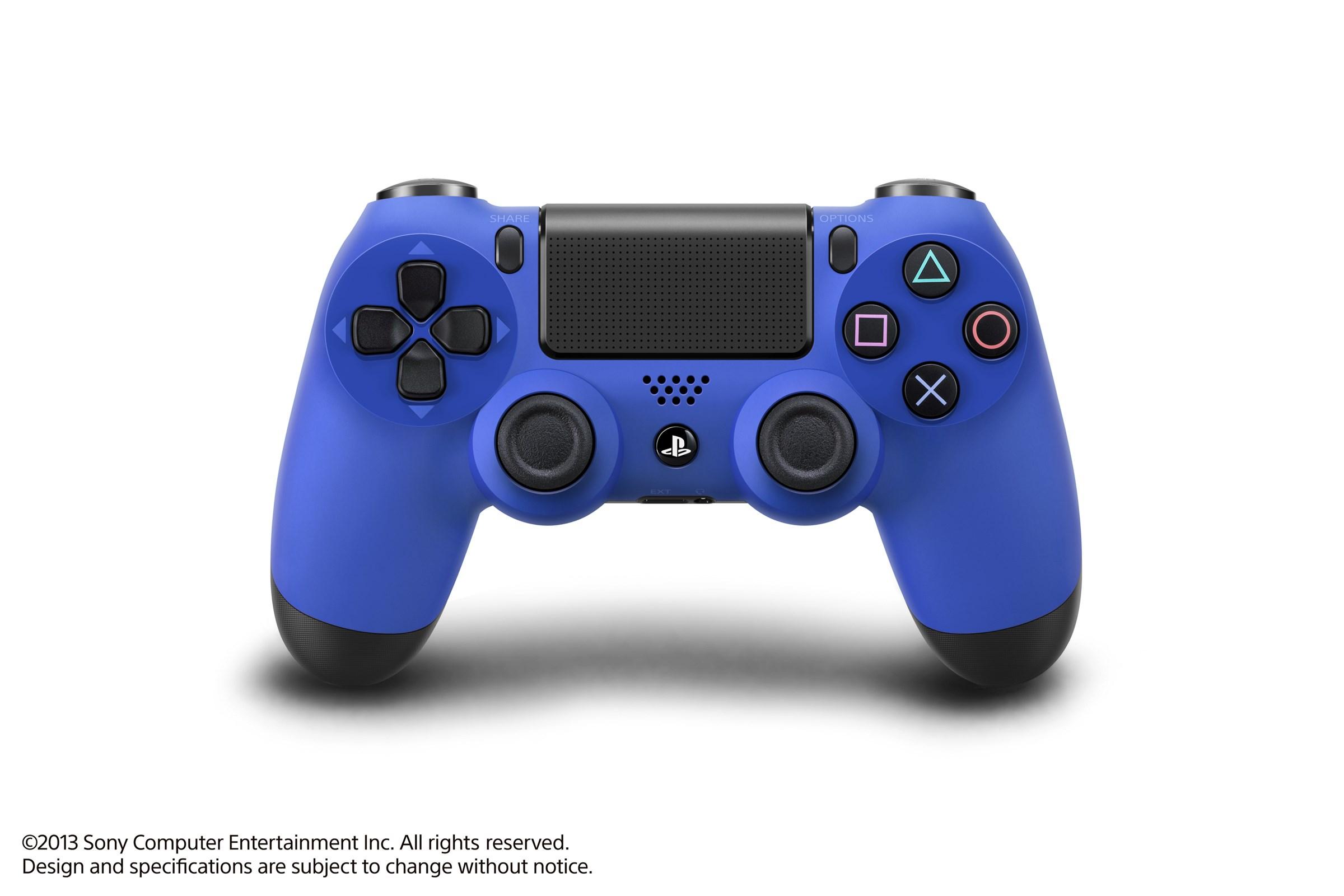 Modrá a červená varianta DualShocku 4 86423