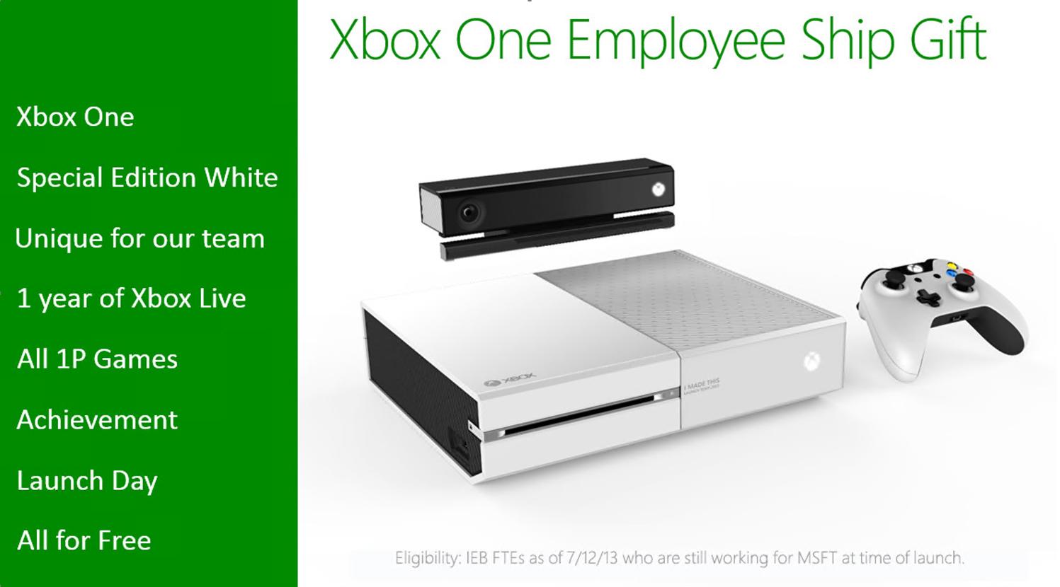Bílý Xbox One pouze pro zaměstnance Microsoftu 86810