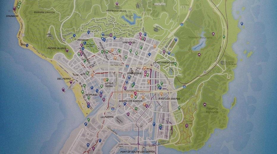 Prohlédněte si kompletní mapu GTA V 87515