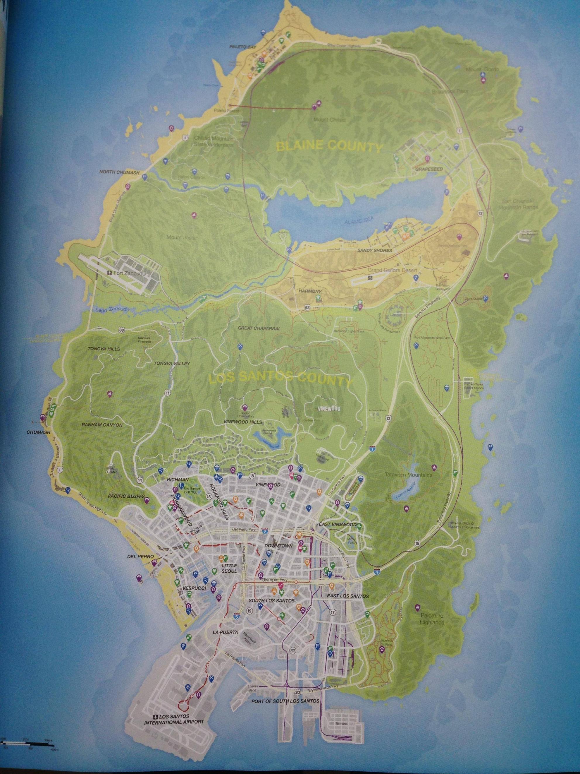 Prohlédněte si kompletní mapu GTA V 87516
