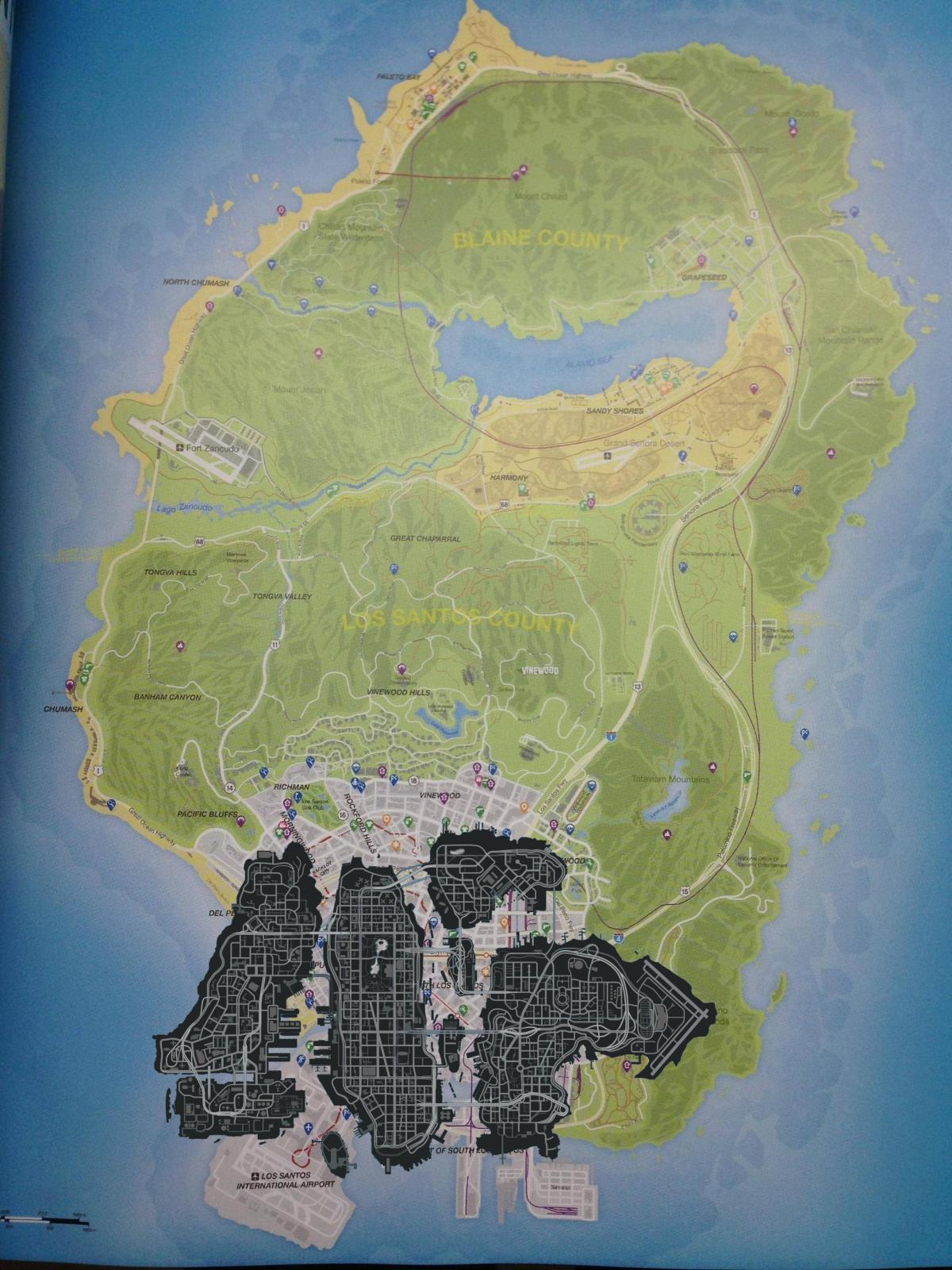 Prohlédněte si kompletní mapu GTA V 87519