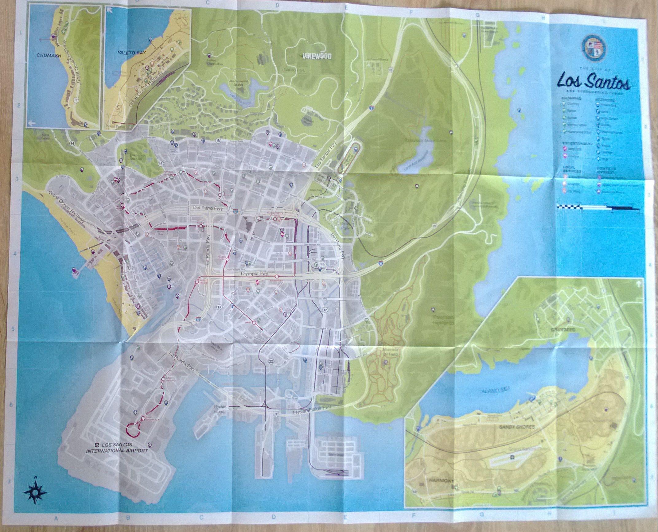 Mapa z prodejní verze GTA V + první recenze 87903