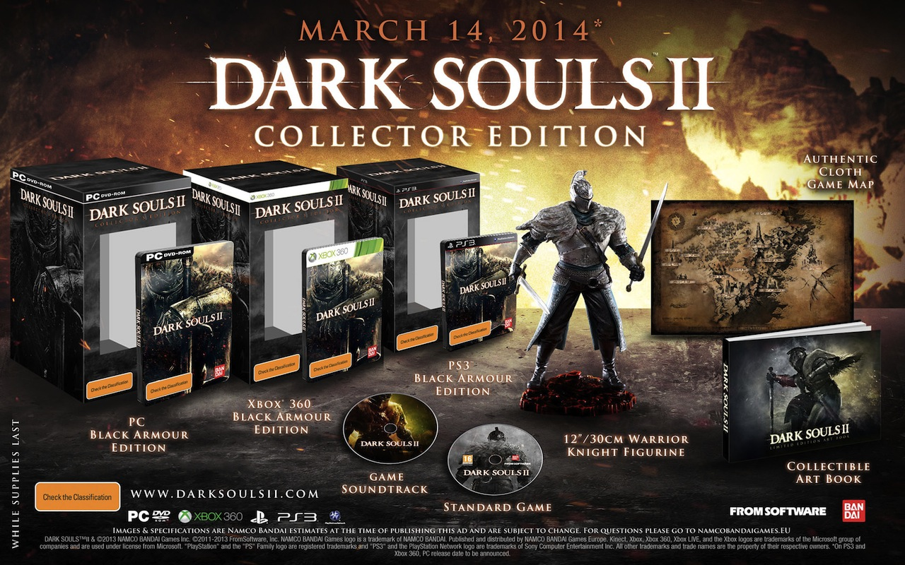 Ztenčují se zásoby speciálních edic Dark Souls 2 87994