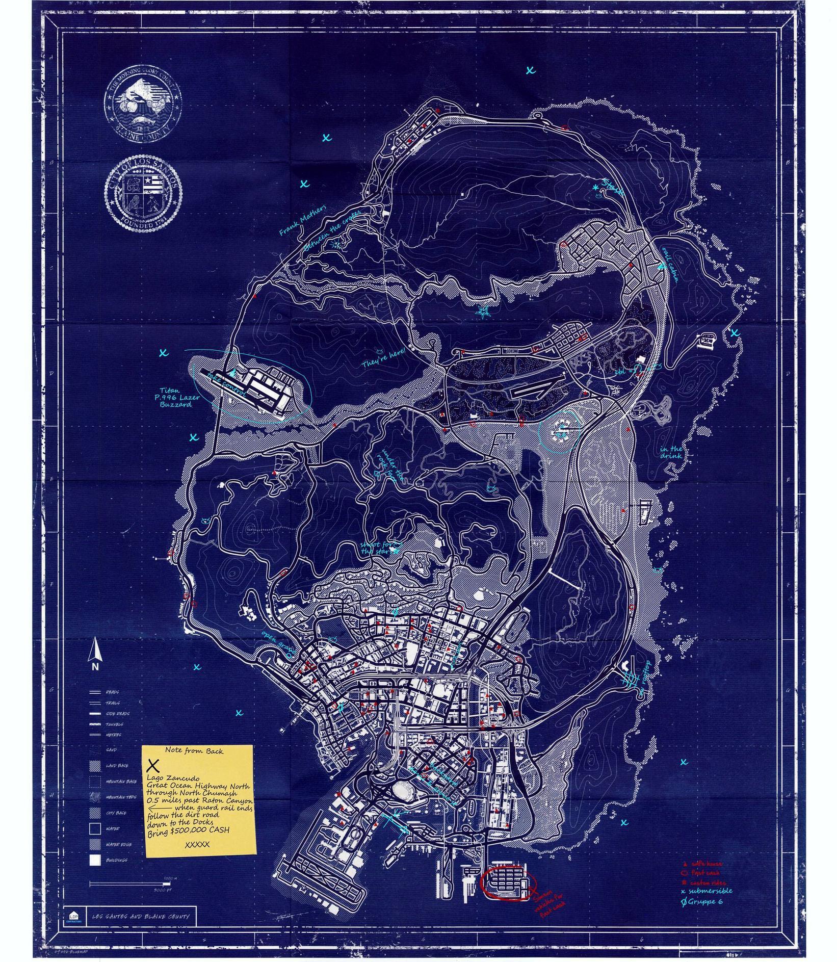 Tajemná mapa světa GTA V konečně odkryta 88113