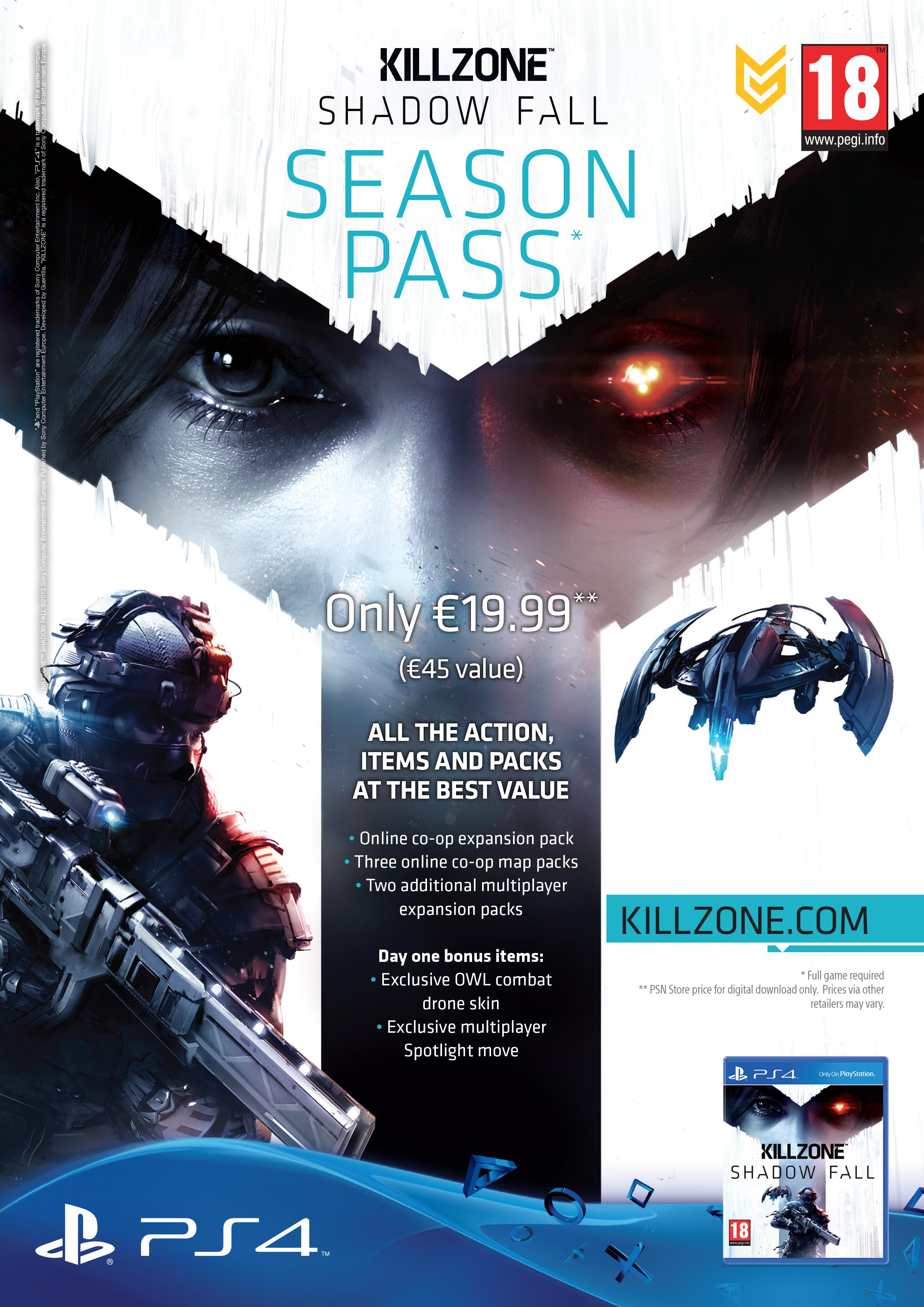 Za 20 euro získáte přístup k DLC balíčkům Killzone: Shadow Fall 88162