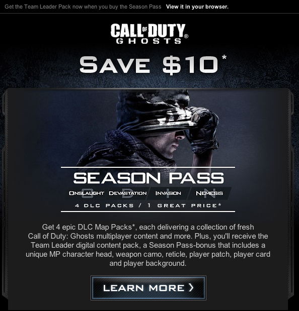 Activision odhalil DLC balíčky pro Call of Duty: Ghosts 90118