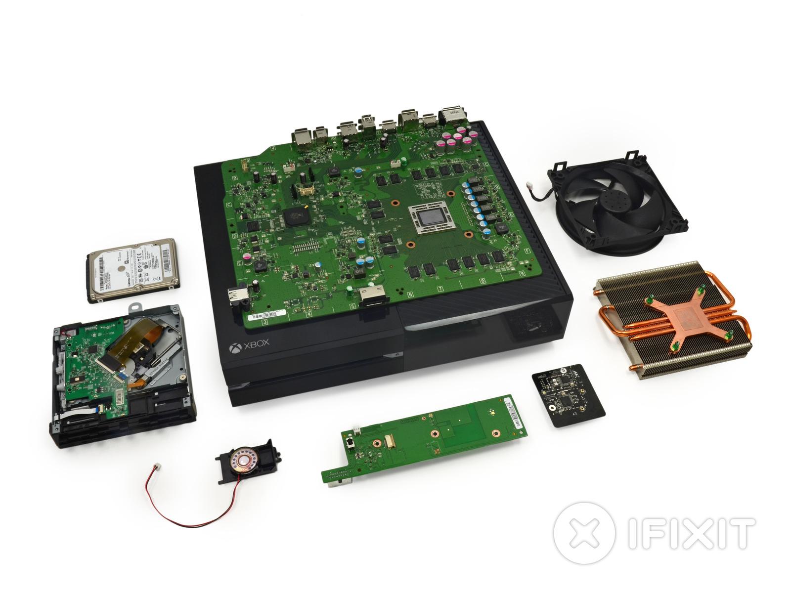 Fotografie rozebrané konzole Xbox One 90243