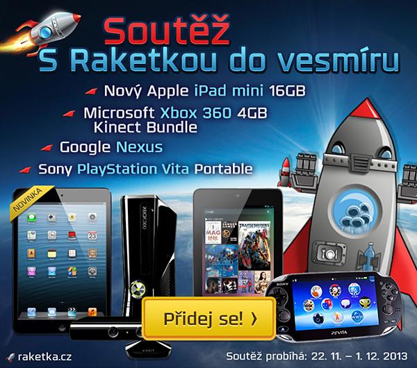 Raketka.cz: Vyhraj herní konzole a nejnovější tablety 90310