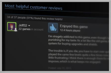 Valve na Steamu spustilo možnost hodnocení her 90325