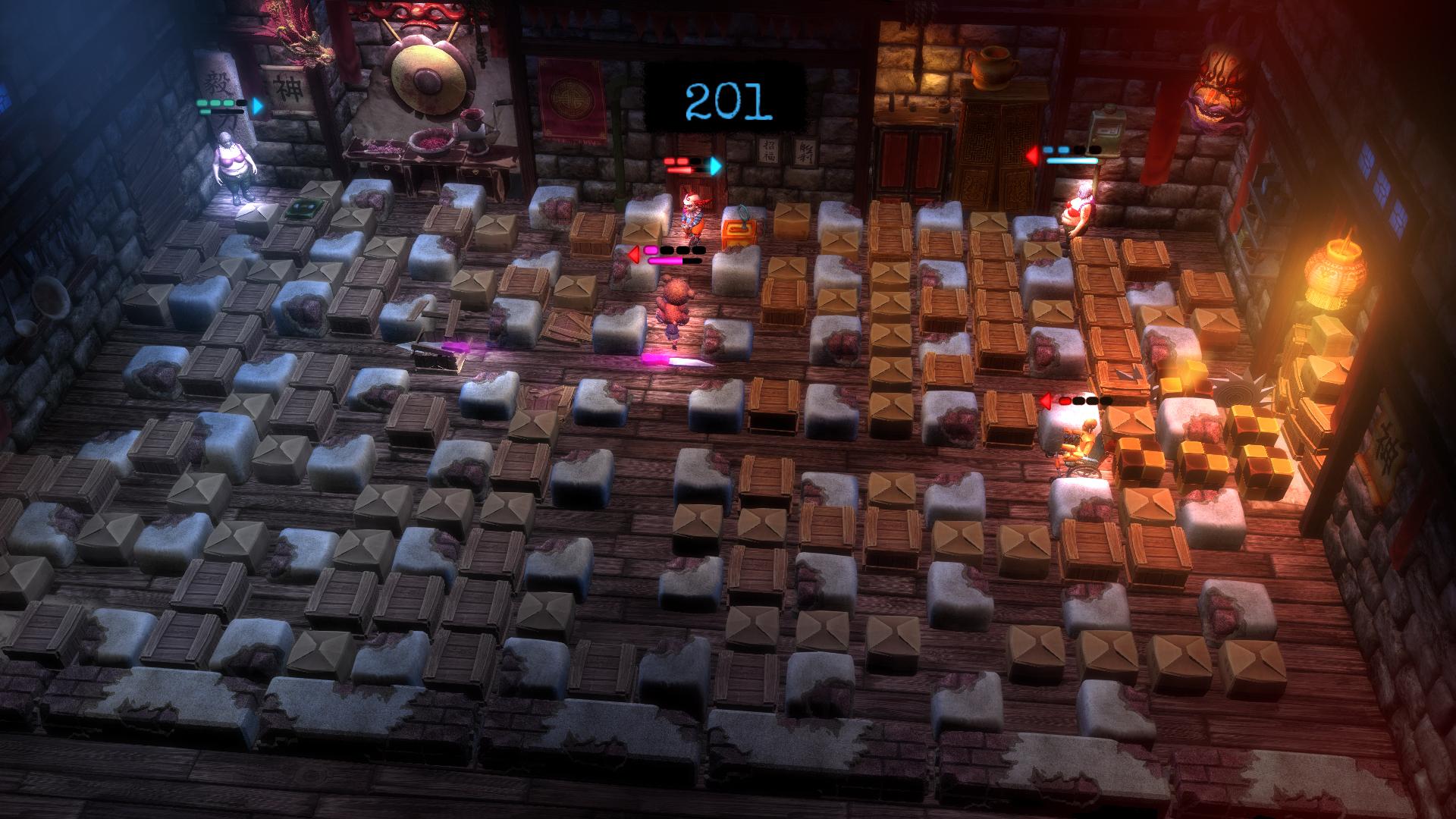 Polská verze Bombermana ve hře Basement Crawl 90361