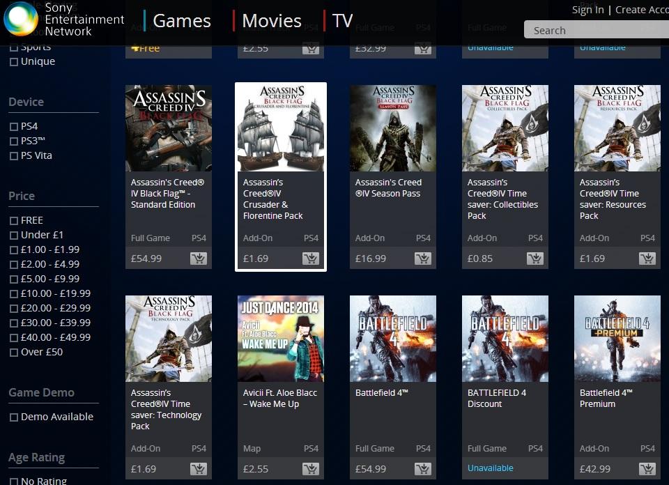 PlayStation 4 tituly budou na PSN stát stejně jako na Xbox One 90433