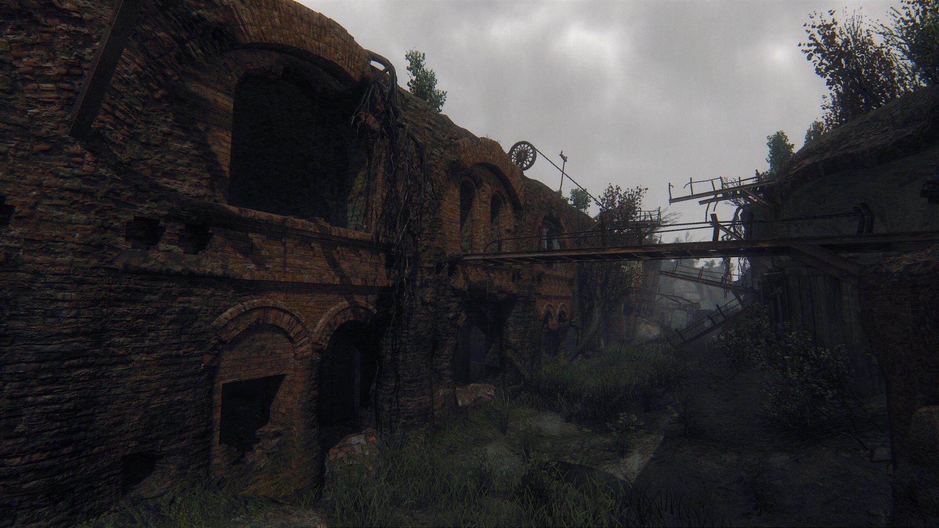 Zarostlé a rozpadající se budovy v Survarium 90473