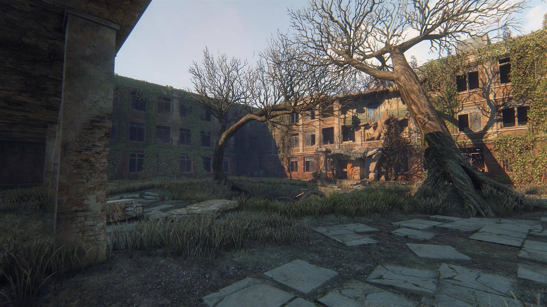 Zarostlé a rozpadající se budovy v Survarium 90475