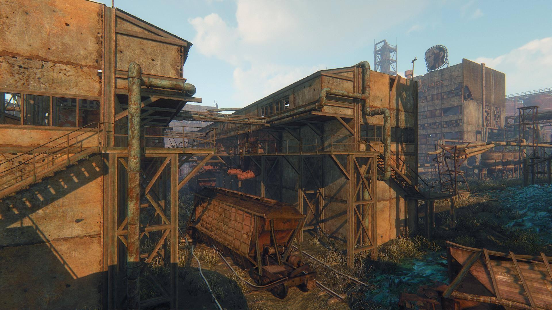 Zarostlé a rozpadající se budovy v Survarium 90477