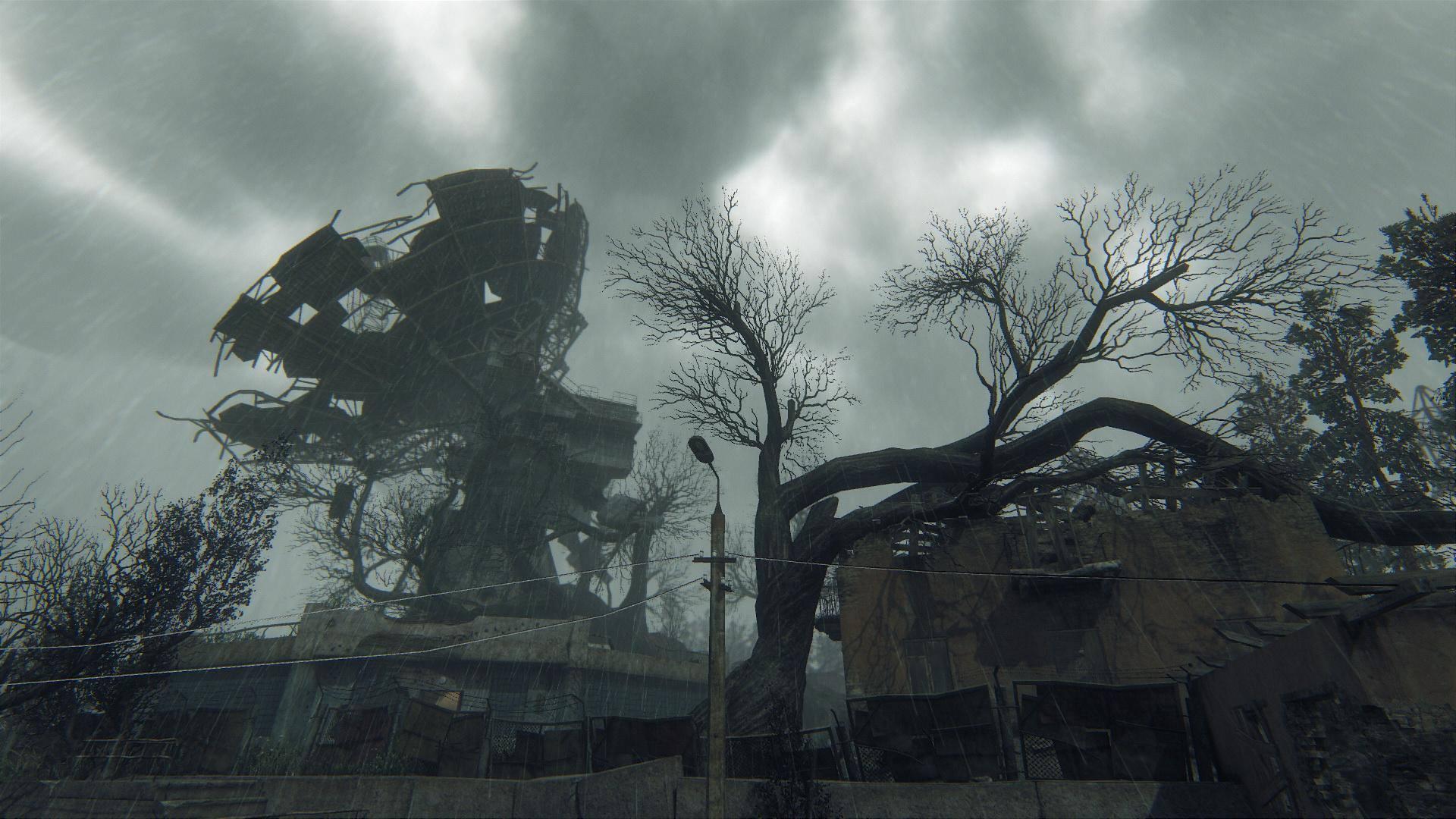 Zarostlé a rozpadající se budovy v Survarium 90479