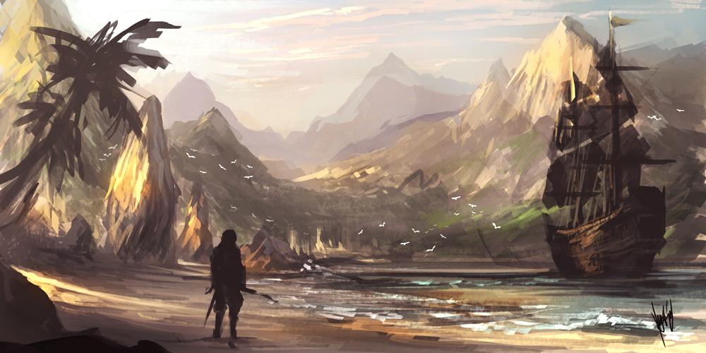 Úžasné artworky inspirované Assassin's Creed 4 90742