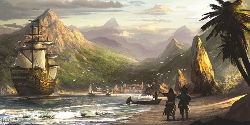 Úžasné artworky inspirované Assassin's Creed 4 90743