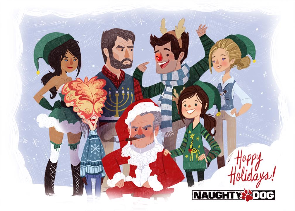 Vánoční přáníčko od Naughty Dog 90981