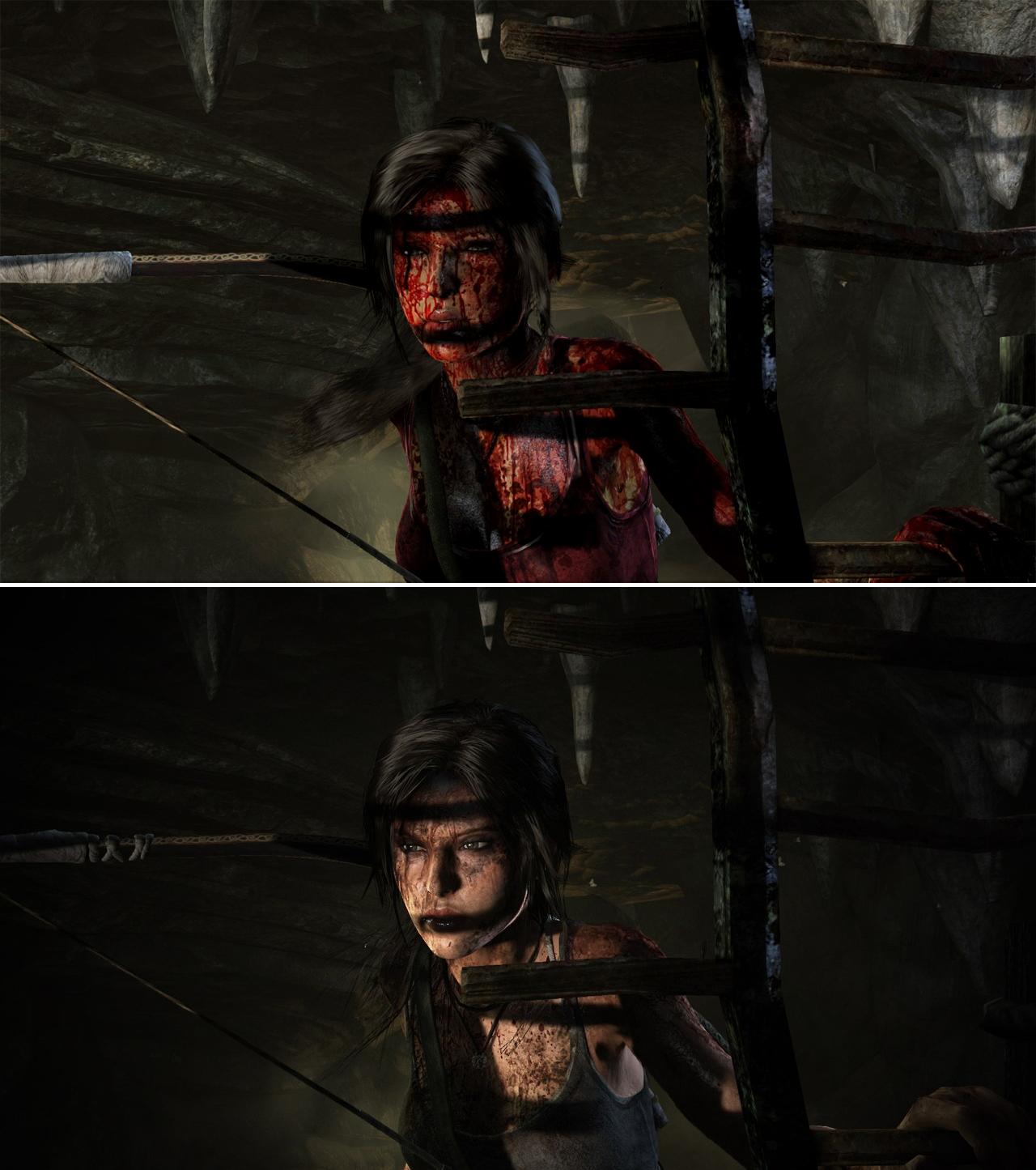 Obrázky ukazují rozdíly mezi PC verzí Tomb Raider a Definitive Edition 91490