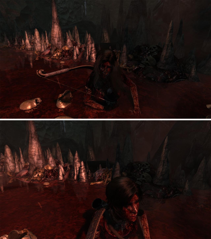 Obrázky ukazují rozdíly mezi PC verzí Tomb Raider a Definitive Edition 91491
