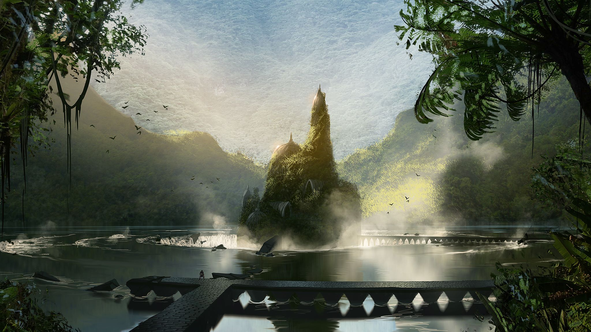 Rozmanitá krajina na artworcích z Dragon Age: Inquisition 91515