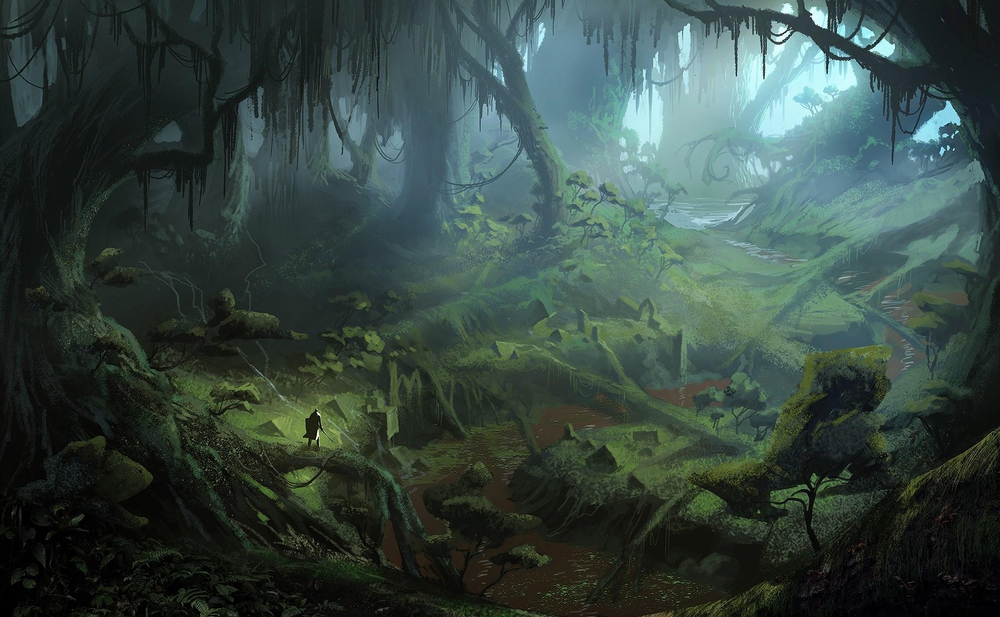 Rozmanitá krajina na artworcích z Dragon Age: Inquisition 91516