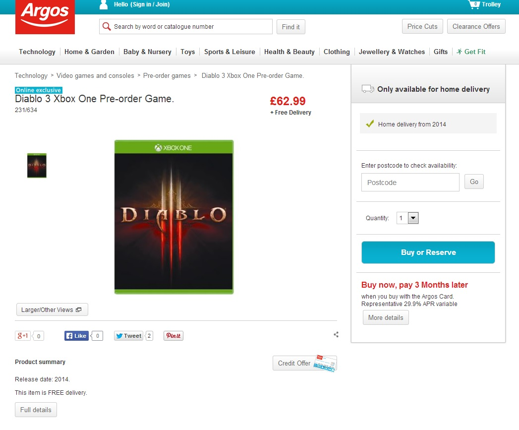 Obchody začaly nabízet Xbox One verzi Diabla 3 91656