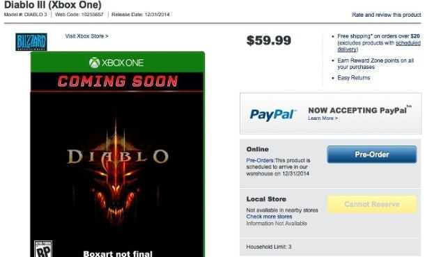 Obchody začaly nabízet Xbox One verzi Diabla 3 91657