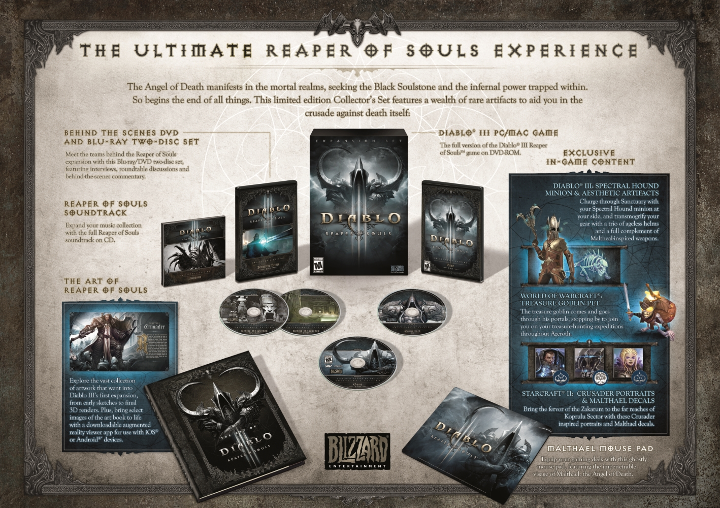 Blizzard prezentuje sběratelskou edici Diabla 3: Reaper of Souls 92746