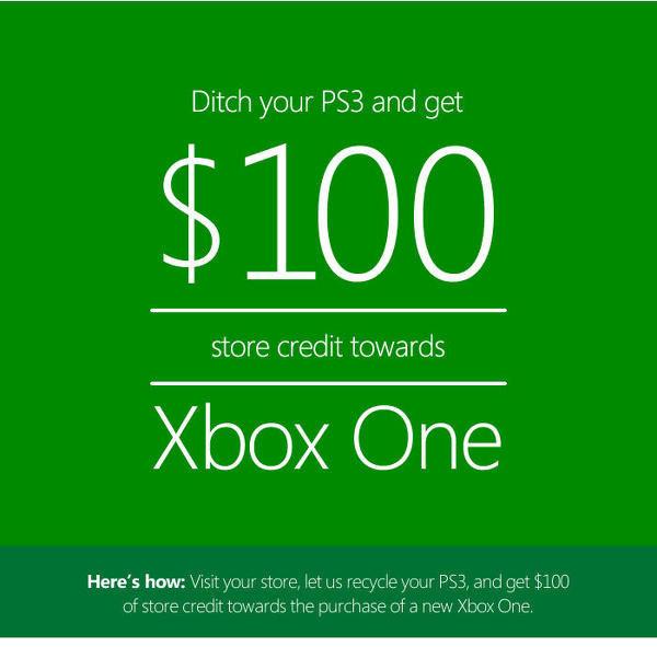 Dejte Microsoftu svou PS3 a získáte slevu na Xbox One 93090