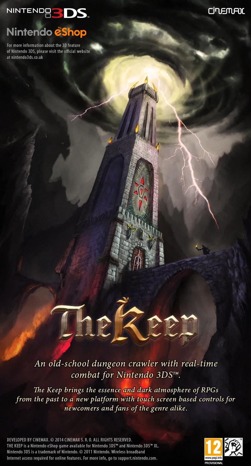 Český Cinemax oznámil dungeon The Keep pro Nintendo 3DS 93892