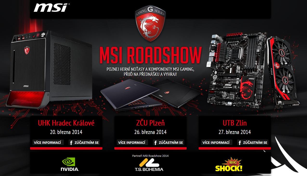 Přijďte na MSI Gaming Roadshow do Hradce, Plzně a Zlína 94570