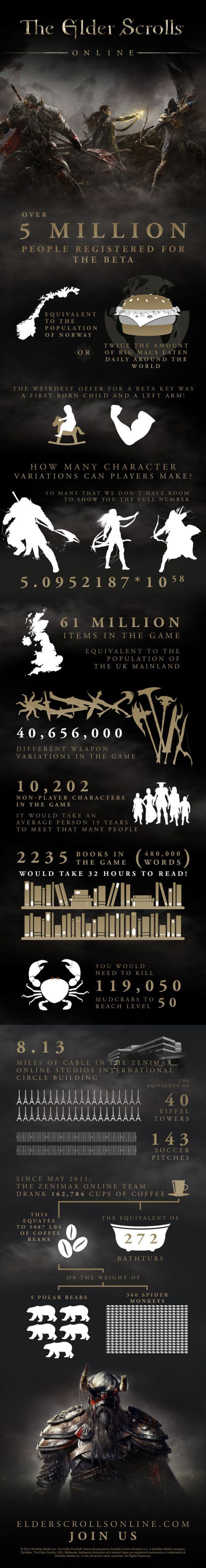Pěkná infografika Elder Scrolls Online 95324