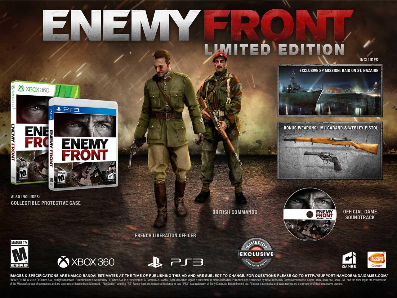 Limitovaná edice Enemy Front s exkluzivním obsahem 95418