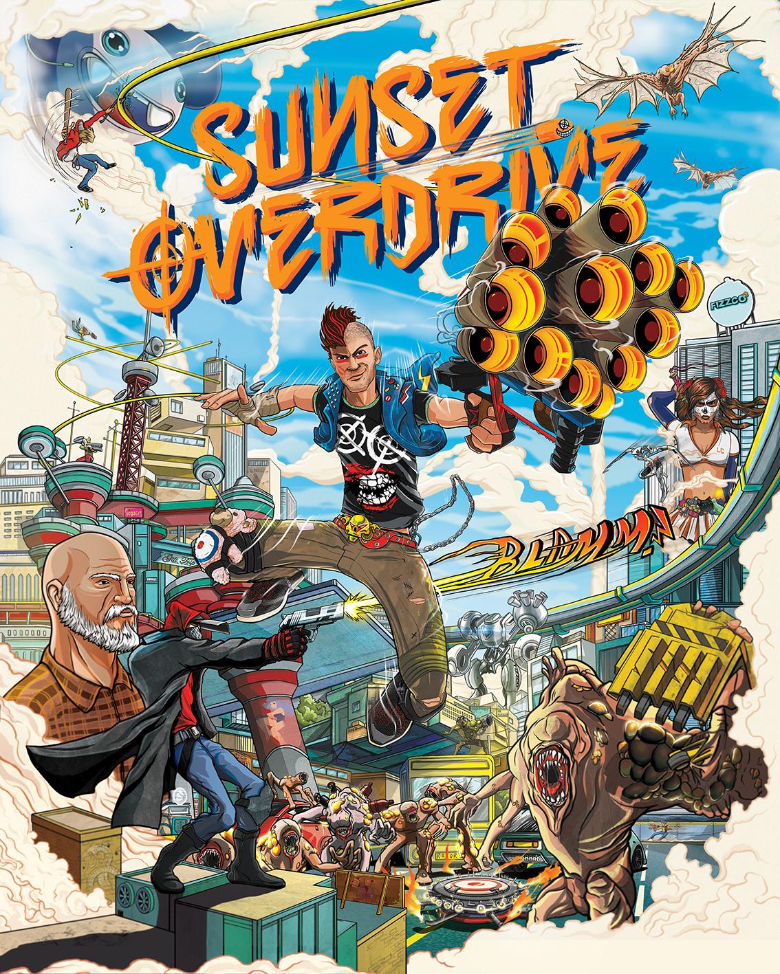 Grafik v reklamě Sony použil font Sunset Overdrive 96455