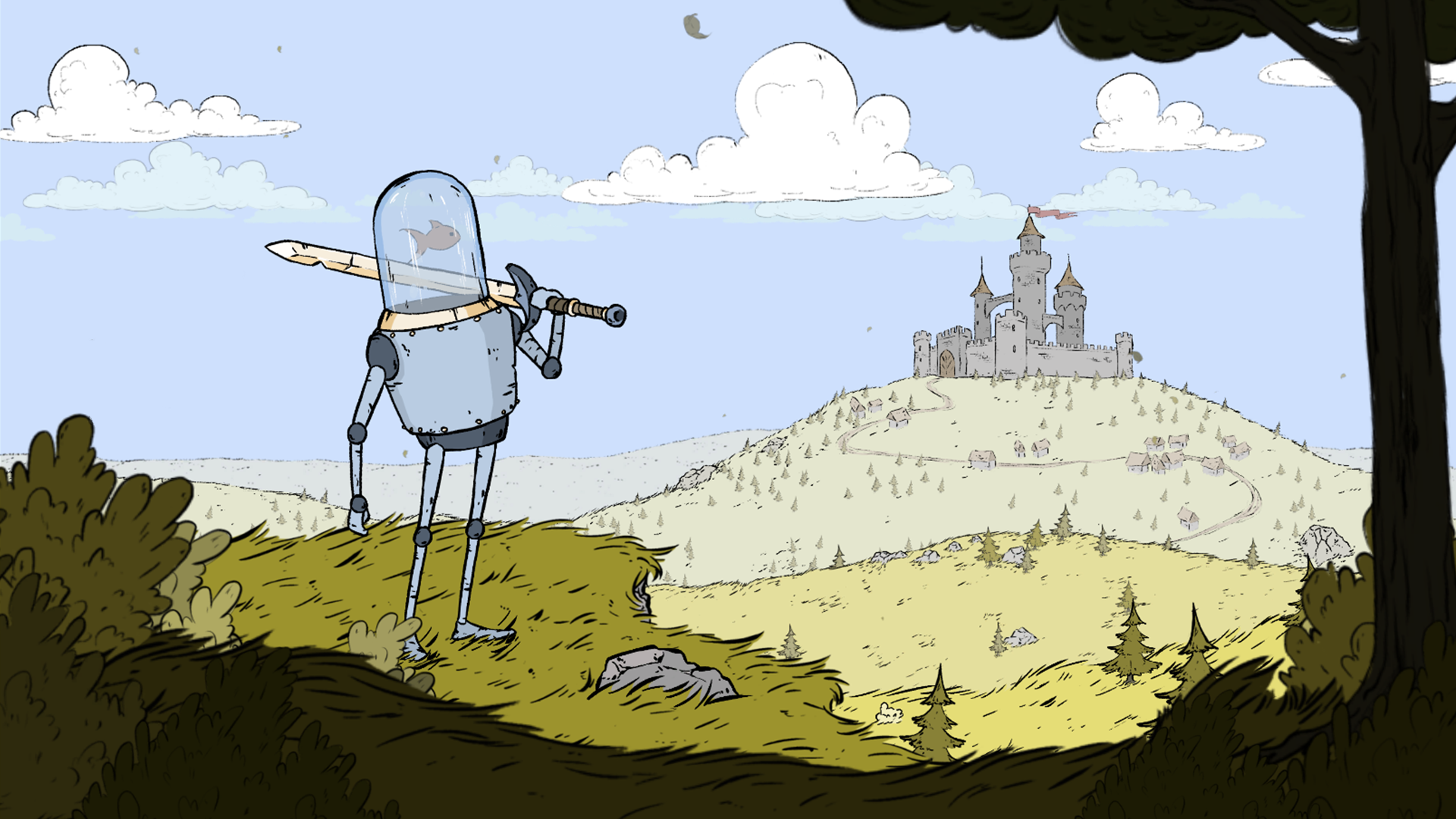 Ve Znojmě vzniká středověké akční RPG s robotem, kterého pohání ryba 154565