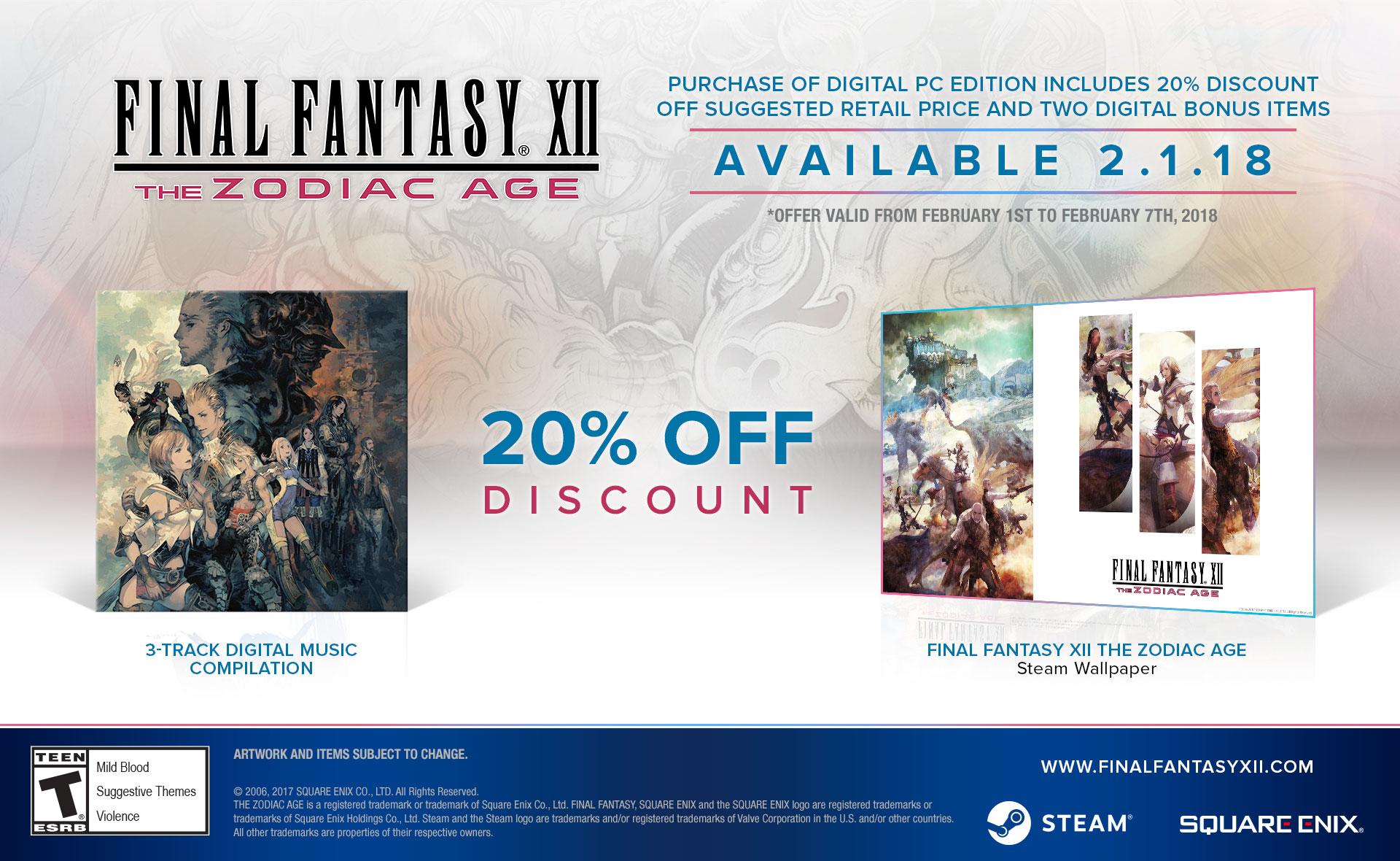 PS4 remaster Final Fantasy XII: The Zodiac Age už v únoru na PC 154834