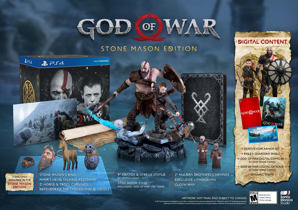 Stone Mason edice God of War se soškou Krata a Atrea 155048