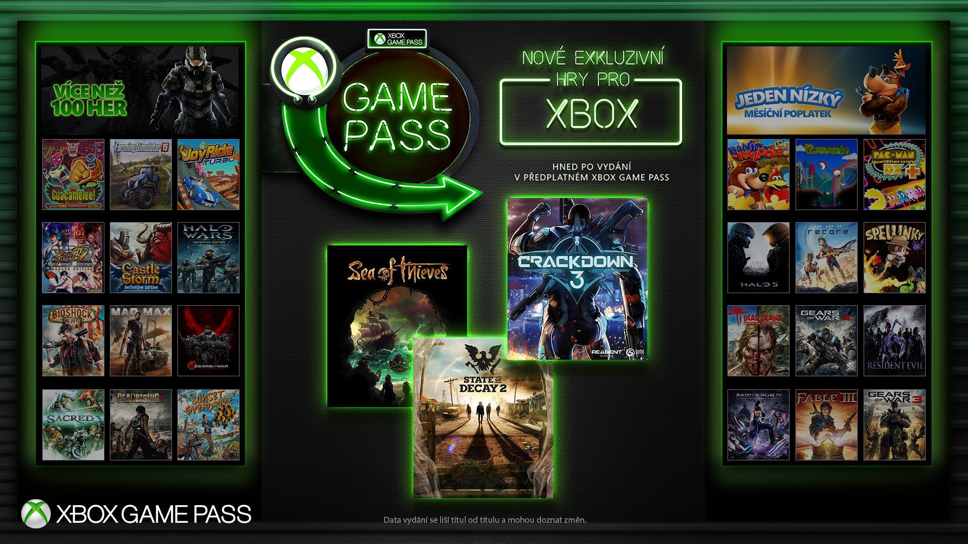 Nové exkluzivní hry pro Xbox budou hned v Xbox Game Passu 155181