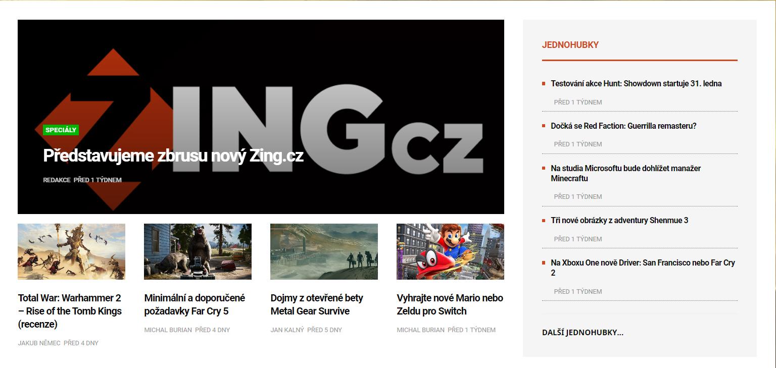 O vývoji nového Zingu: Úprava úvodní stránky a nové komentáře 155393