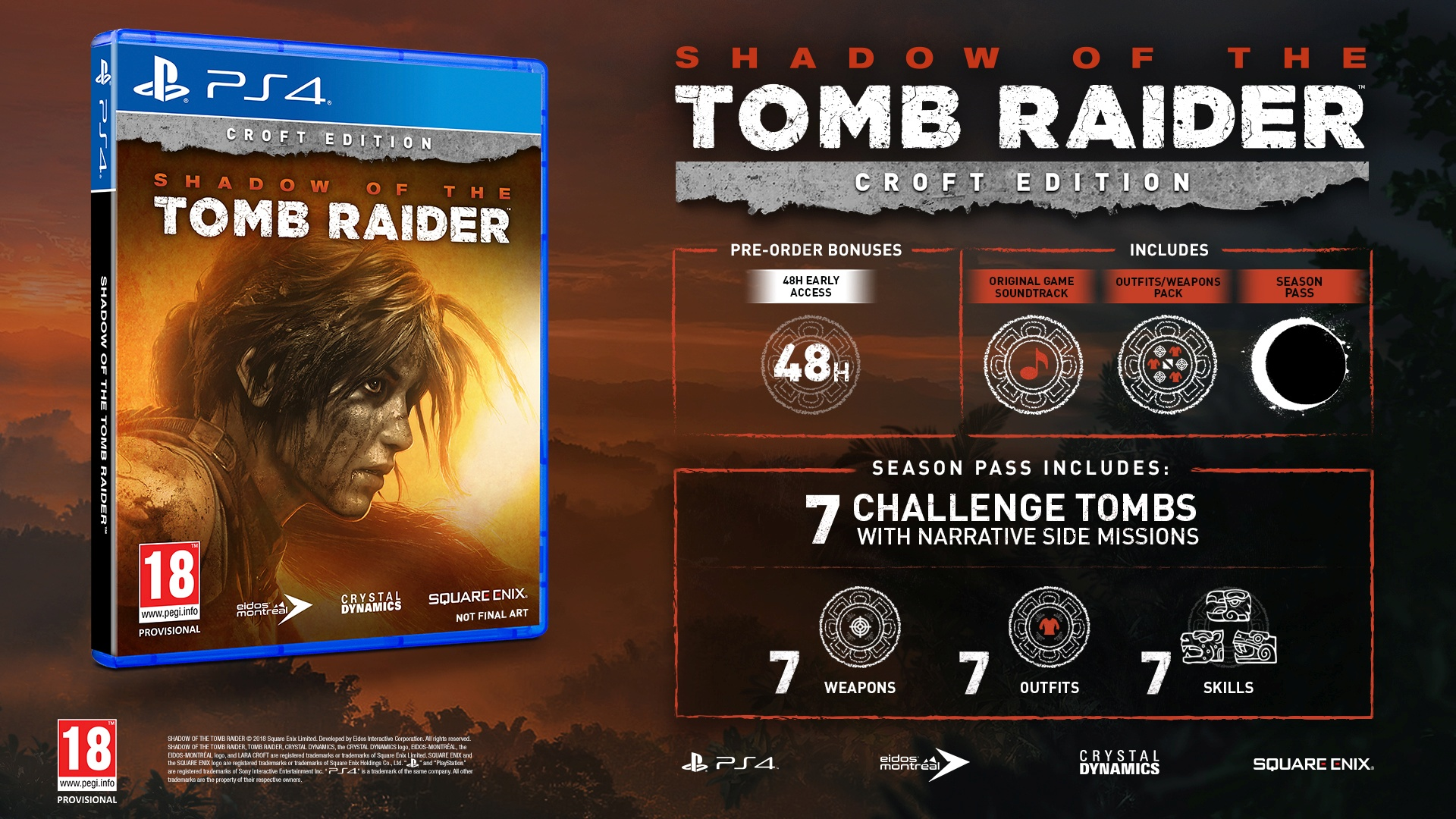 V Shadow of the Tomb Raider bude Lara zachraňovat svět před mayskou apokalypsou Shadow of the Tomb Raider Croft edition