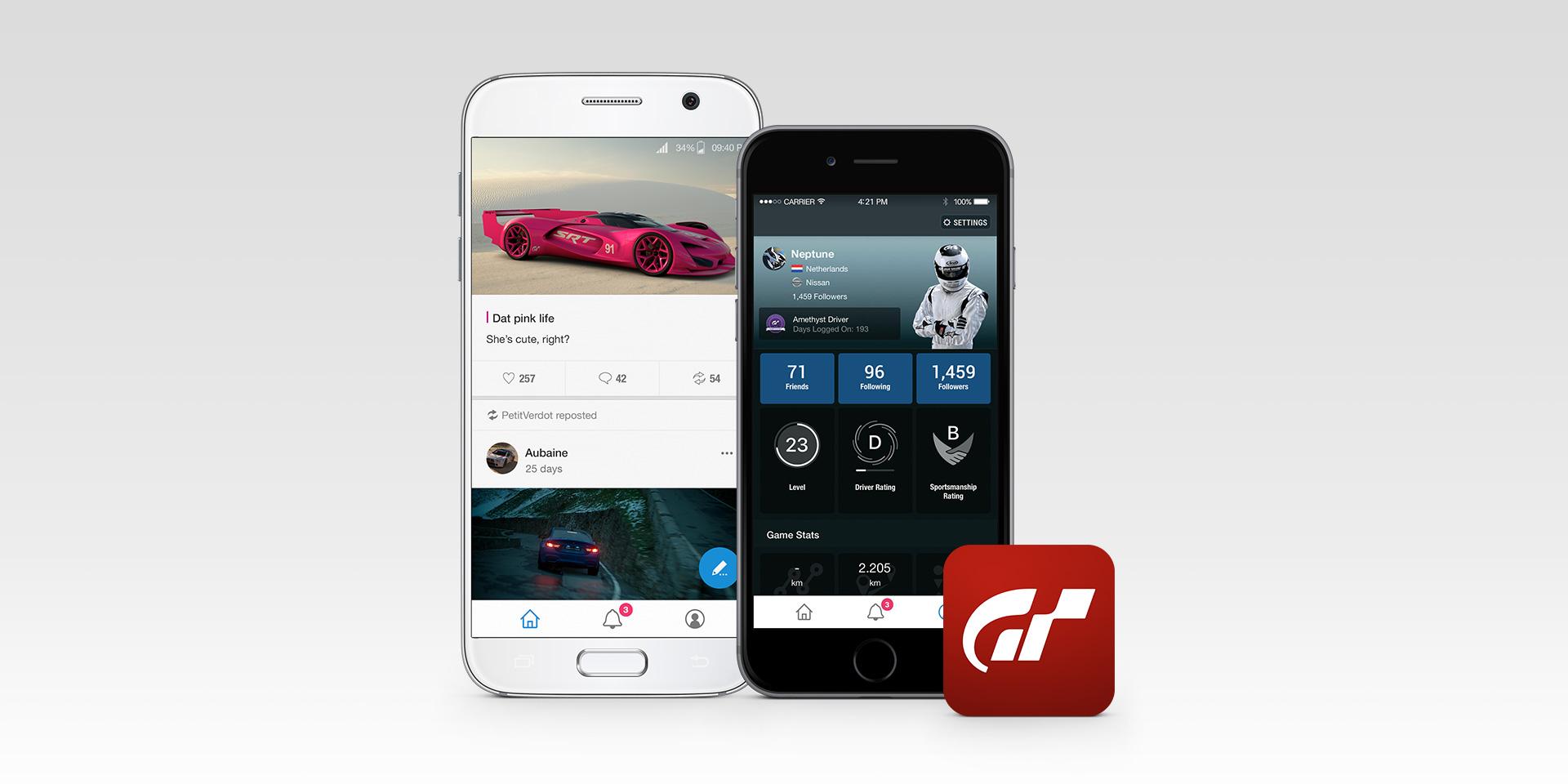 Le Mans v Gran Turismo Sport GT Sport aplikace