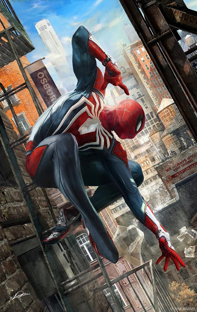 Spider-Man na působivém artworku Spider Man artwork Alexander Lozano